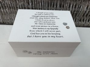 Personalised In Memory Of A Loved One ~ SON ~ BOX any Name Bereavement Loss - 253568202586